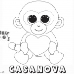 Beanie Boo Coloring pages Casanova