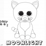 Beanie Boo Coloring pages Cat Moonlight