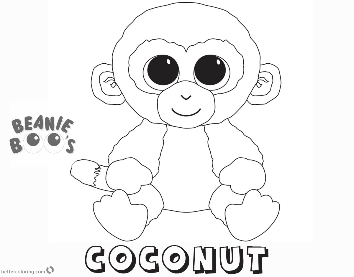 Beanie Boo Coloring pages Coconut - Free Printable Coloring Pages