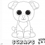 Beanie Boo Coloring pages dog Scraps