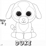 Beanie Boo Coloring pages dog Duke