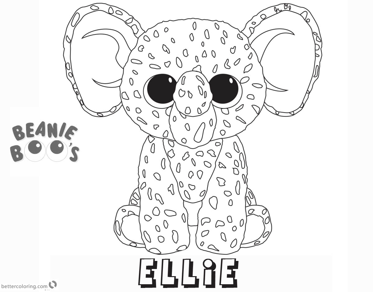 Free Beanie Boo Coloring Pages ellie Printable