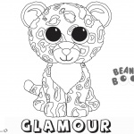 Beanie Boo Coloring pages Glamour