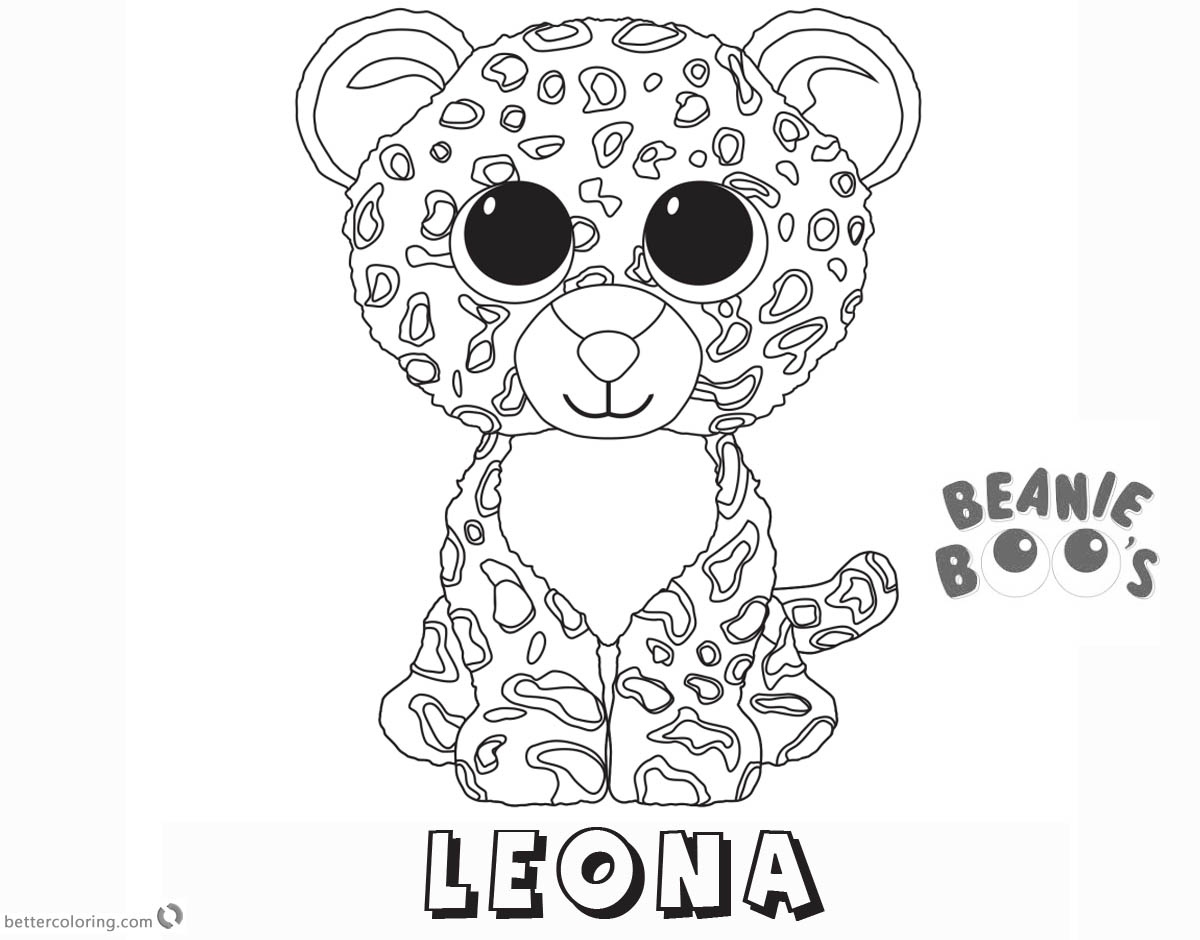 beanie boo coloring pages leona free printable coloring
