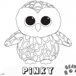 Beanie Boo Coloring Pages owl Pinky