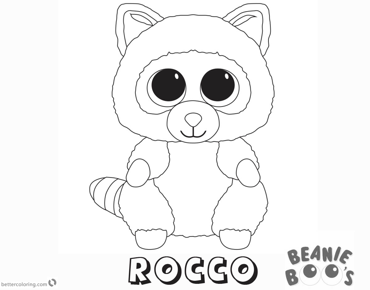 Beanie Boo Coloring pages Rocco Free Printable Coloring Pages