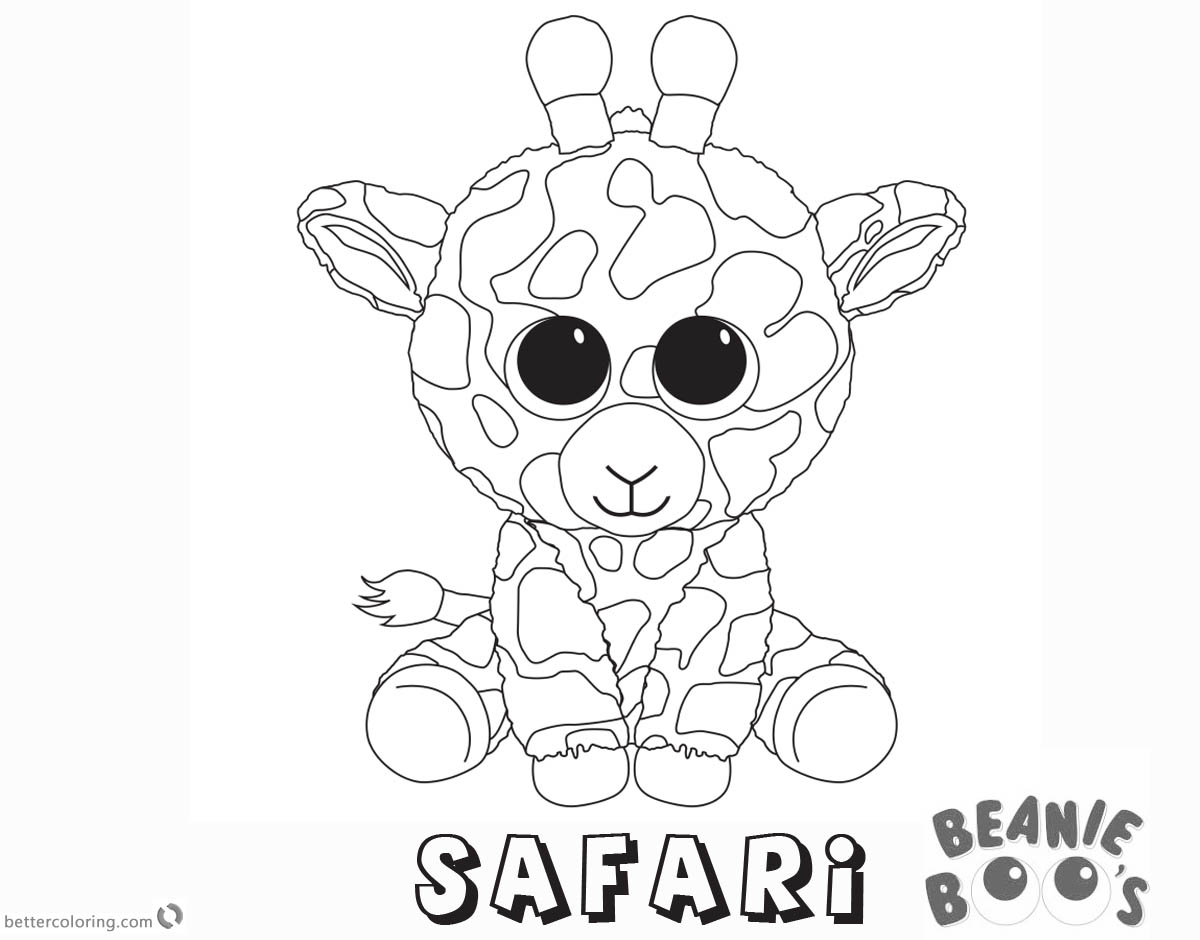 Free Beanie Boo Coloring Pages safari Printable