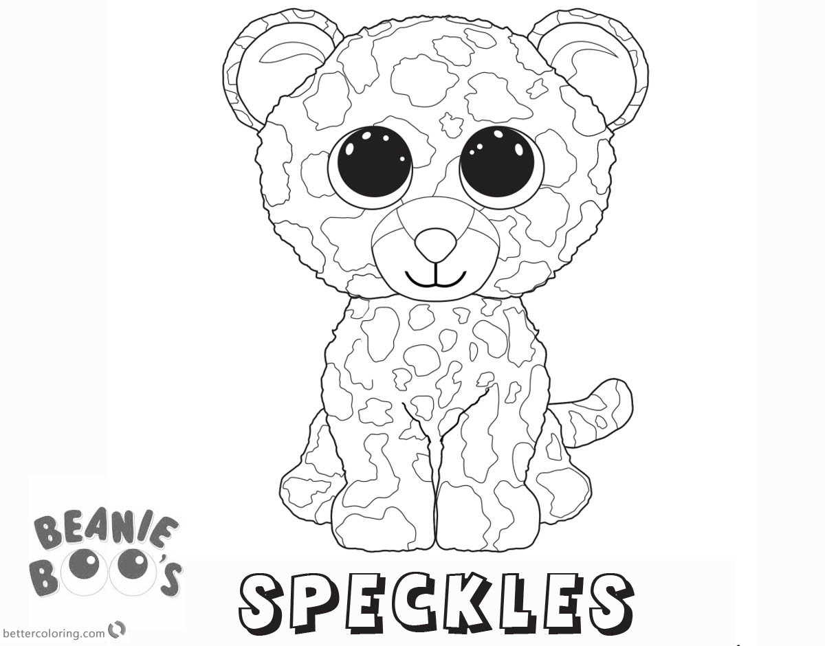 Beanie Boo Coloring pages Speckles Free Printable