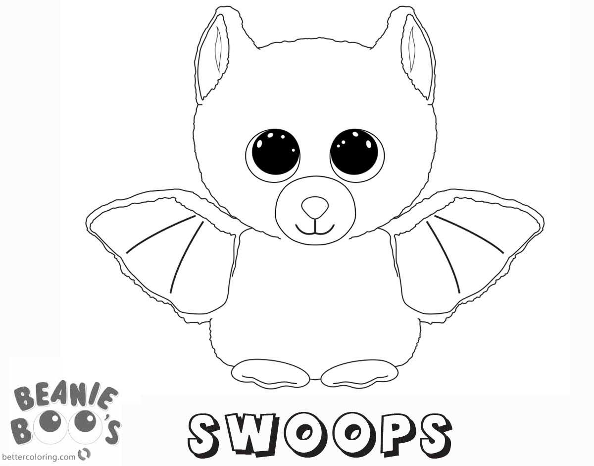 Free Beanie Boo Coloring Pages swoops Printable