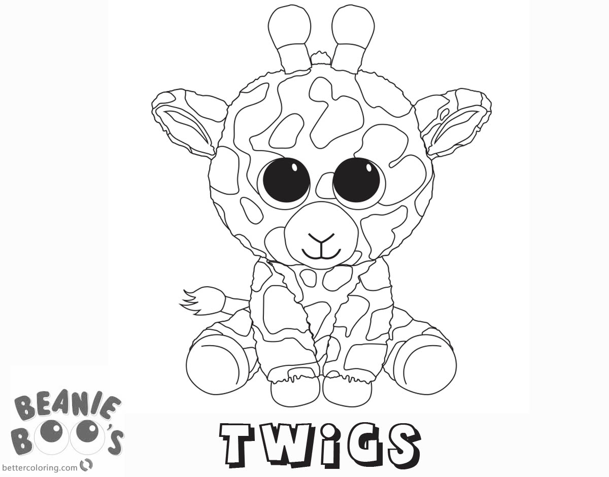 Beanie Boo Coloring pages Twigs Free Printable Coloring