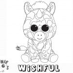 Beanie Boo Coloring pages unicorn Wishful