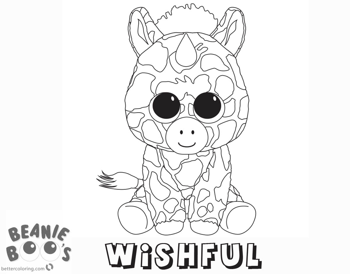 Free Beanie Boo Coloring Pages unicorn wishful Printable