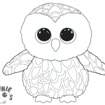 Beanie Boo Owl Coloring Pages