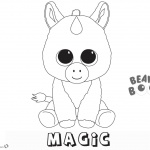 Beanie Boos Coloring Pages unicorn magic