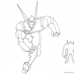 Ben 10 Coloring Pages Alien Force Diamondhead
