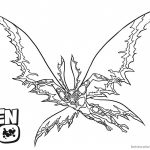 Ben 10 Coloring Pages Alien Force Flying
