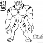 Ben 10 Coloring Pages Alien Force Rath