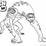 Ben 10 Coloring Pages Alien Force Wildmutt Outline