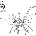 Ben 10 Coloring Pages Big Chill