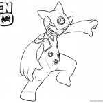 Ben 10 Coloring Pages Ditto Line Art