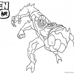 Ben 10 Coloring Pages Four Arm Alien Force Character