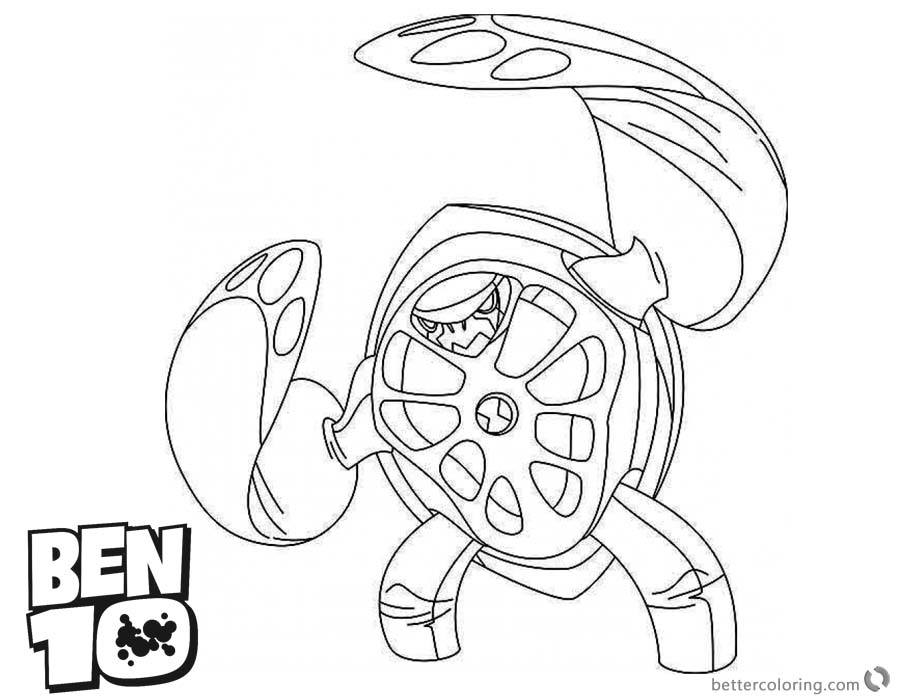 Ben 10 Coloring Pages Character Galapagus - Free Printable Coloring ...