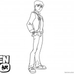 Ben 10 Coloring Pages Handsome Ben