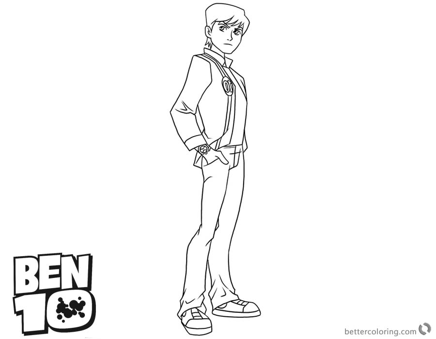 Ben 10 Coloring Pages Handsome Ben printable for free