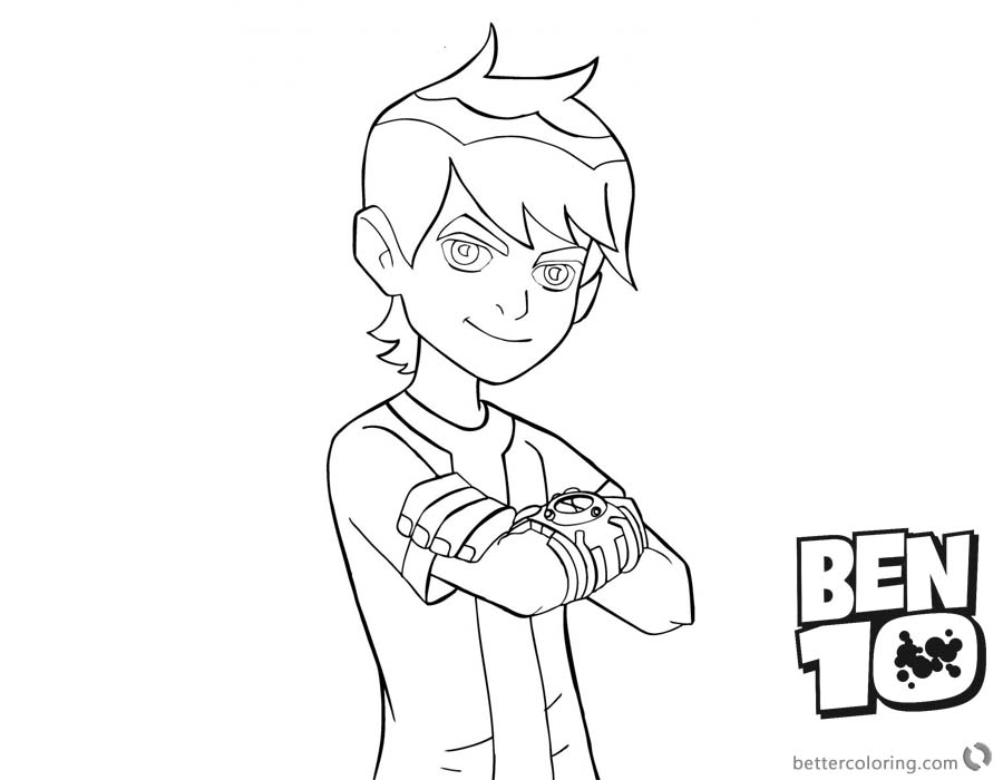 Ben 10 Coloring Pages Omniverse Aliens printable for free