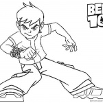 Ben 10 Coloring Pages Ready to Fight Clipart