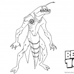 Ben 10 Coloring Pages Ripjaws Alien Force