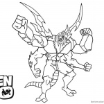 Ben 10 Coloring Pages Stink Arms Alien