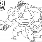 Ben 10 Coloring Pages Ultimate Humungousaur Alien Force