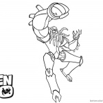 Ben 10 Coloring Pages Vilgax is Fighting Line art