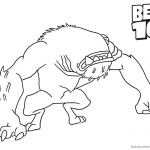 Ben 10 Coloring Pages Wildmutt