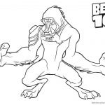 Ben 10 Coloring Pages Wildmutt Clipart