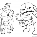 Ben 10 coloring pages Alien Force Characters