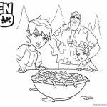 Ben 10 coloring pages Caterplillars In the Bowl