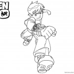 Ben 10 coloring pages Fighting