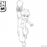 Ben 10 coloring pages Fighting Lineart