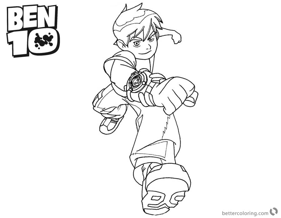 Ben 10 coloring pages Fighting printable for free