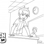 Ben 10 coloring pages In the Classroom