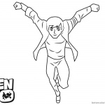 Ben 10 coloring pages Jumping Clipart