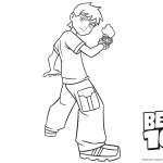 Ben 10 coloring pages Lineart Black and White
