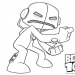 Ben 10 Coloring Pages Echo Echo Alien Force