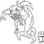 Blitzwolfer from Ben 10 Coloring Pages Alien Force