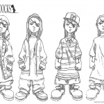 Boondocks coloring pages Gangsta