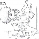 Boondocks coloring pages Hair Trouble