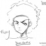 Boondocks coloring pages Huey Fan Drawing shiki no bijutsu bo19