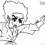 Boondocks coloring pages Huey Freeman Lineart